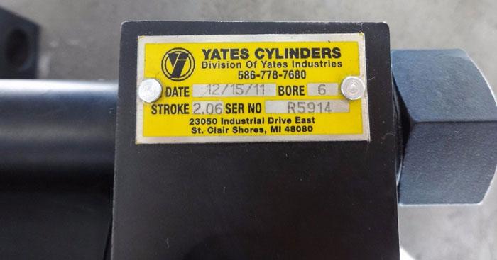 YATES HYDRAULIC CYLINDER R5914 BORE 6 STROKE 2.06