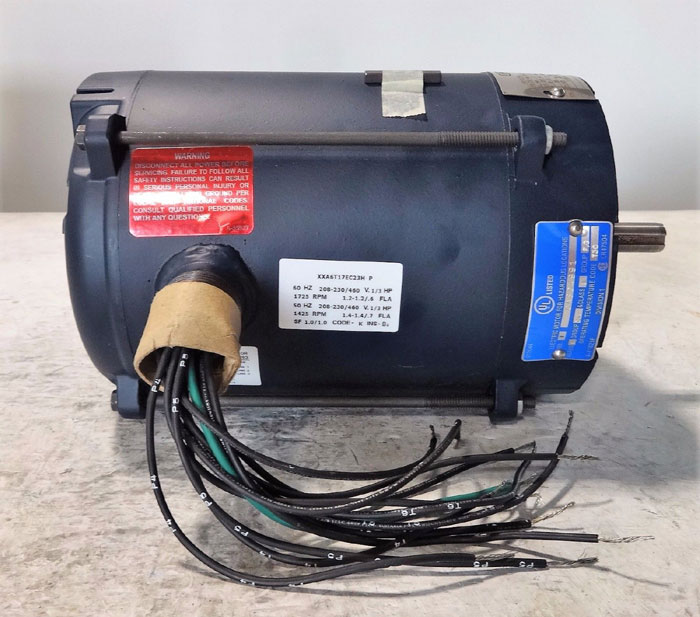 LEESON 1/3 HP ELECTRIC MOTOR MODEL A6T17EC23H CATALOG 111931.00