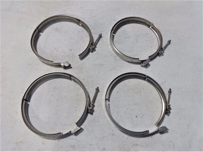 "LOT OF (4) CLAMPCO 7"" V-BAND CLAMPS 95U3-0780"