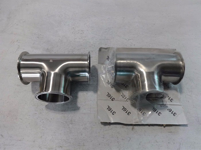 "LOT OF (2) TEE CLAMP 4"" - 316 STAINLESS STEEL"