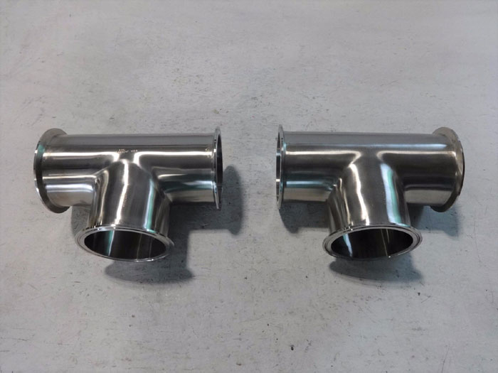 "LOT OF (2) DIXON 4"" TEE CLAMP 316 STAINLESS STEEL B7MP-R400"