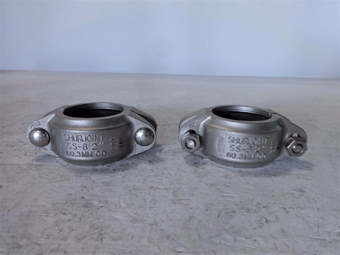 """LOT OF (2) SHURJOINT 2"""" FLEXIBLE COUPLING SS-8 304 STAINLESS STEEL"""