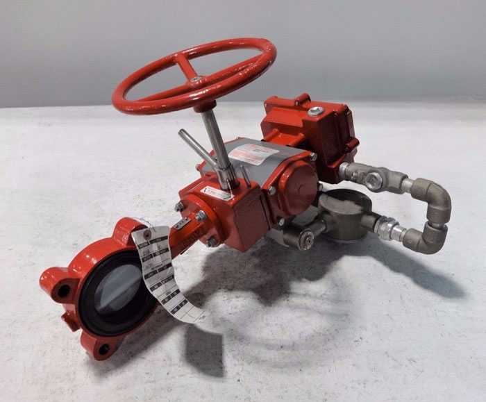"""BRAY CONTROLS 3"""" ACTUATED BUTTERFLY VALVE 92-0830-11300-015 & 50-0712-12610-532"""