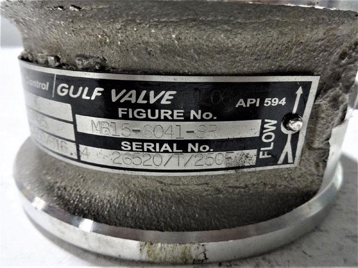 "TYCO FLOW CONTROL GULF VALVE 3"" WAFER CHECK VALVE MB15-6041-SR"