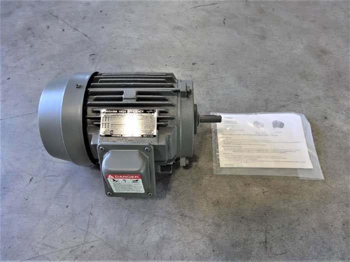 TOSHIBA HIGH EFFICIENCY 0.75 HP 3-PHASE INDUCTION MOTOR B3/44FMF2AOZ