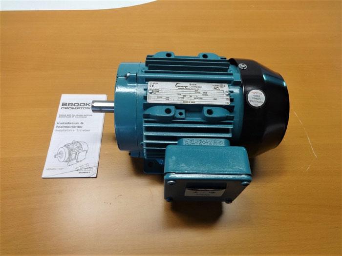 INVENSYS BROOK CROMPTON 0.75 HP AC MOTOR 5927204WA-00