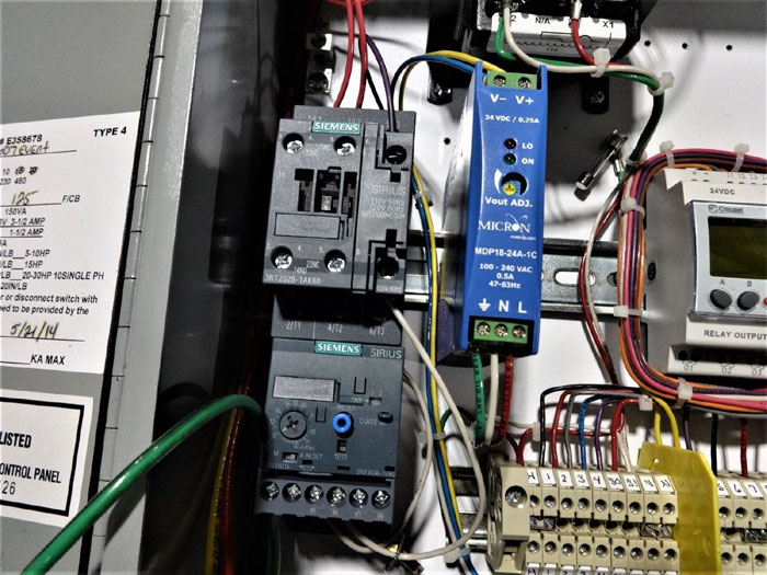 WASTEQUIP COMPACTOR AMS CONTROL PANEL ASSEMBLY IN HOFFMAN ENCLOSURE