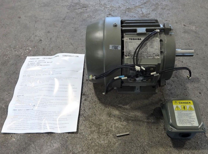 TOSHIBA 1.0 HP HIGH EFFICIENCY EPACT-CT 3-PHASE INDUCTION MOTOR 0014FTSA21A-P