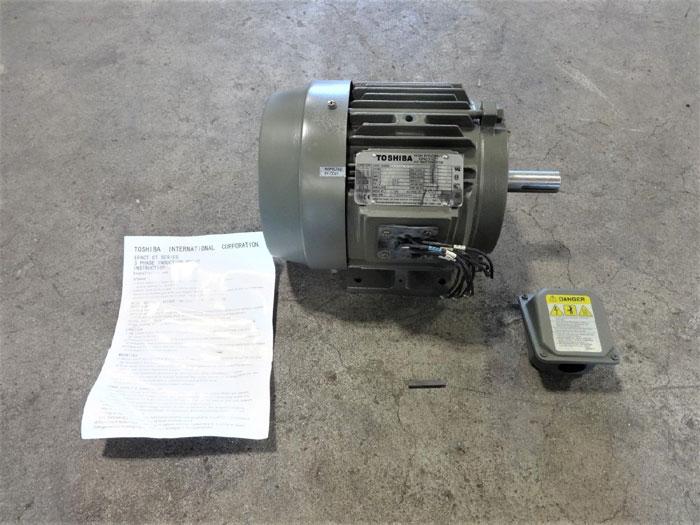 TOSHIBA 3 HP HIGH EFFICIENCY EPACT-CT 3-PHASE INDUCTION MOTOR 0032FTSA21A-P