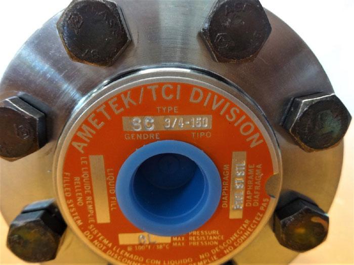 AMETEK DIAPHRAGM SEAL TYPE SC 3/4-150