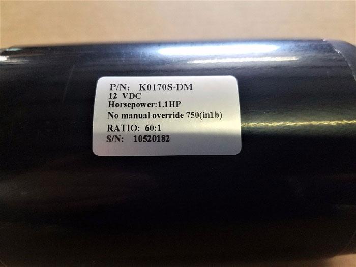 LOT OF (3) - 60:1 ELECTRIC TARP MOTORS #K0170S-DM