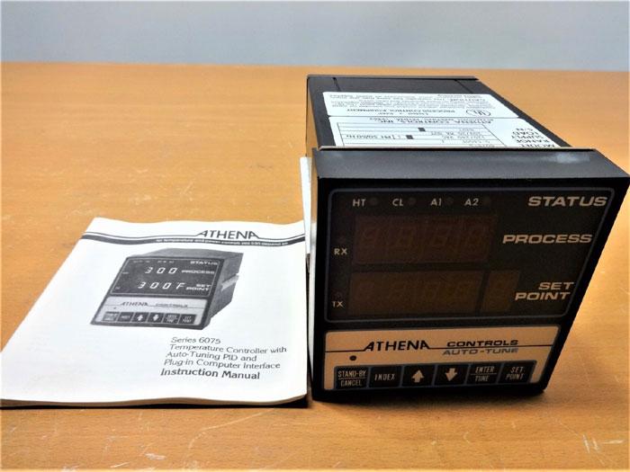 ATHENA CONTROLS 0 - 1400 DEG F. TEMPERATURE CONTROLLER 6075-S