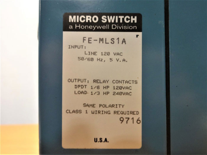 HONEYWELL MICRO SWITCH PHOTOELECTRIC CONTROL FE-MLS1A