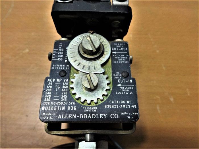 ALLEN BRADLEY PRESSURE SWITCH 836H23-XMCS-48