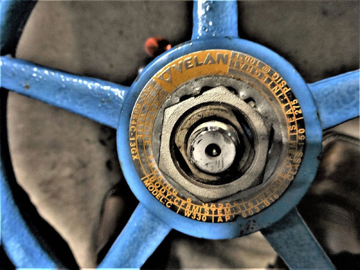 "VELAN 1-1/2"" 150# CF8M GATE VALVE, MODEL C, F07-0064C-13GX"