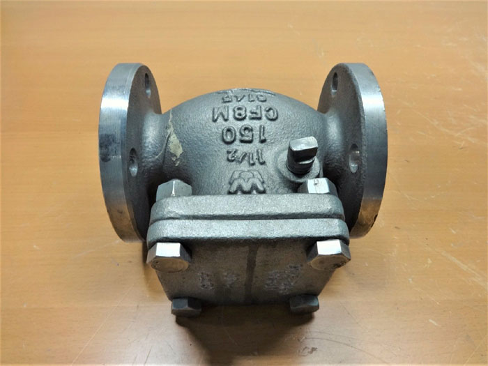 "W.M.E. WILLIAMS VALVE CORP 1-1/2"" 150# CF8M SWING CHECK VALVE, FIG# S151F6-316"