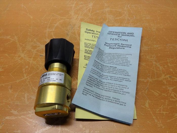 TESCOM 44-2212-242 PRESSURE REDUCING REGULATOR, DIAPHRAGM SENSED, BRASS, 400 PSI