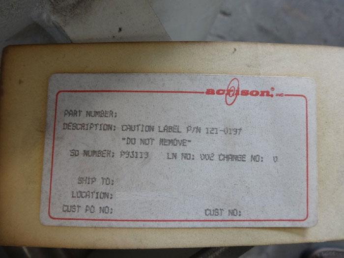 ACRISON 140-18-377 GEAR BOX, PART# 121-0137