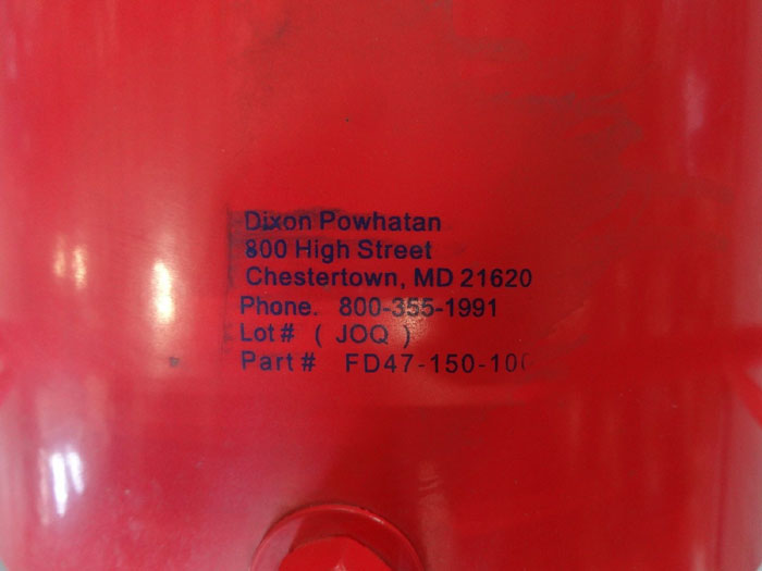 DIXON HOSE REEL, GLOBAL CONTINUOUS FLOW FD47-150-100