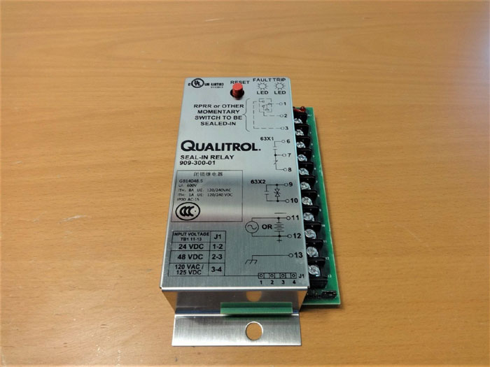 QUALITROL AC/DC SEAL-IN PRESSURE RELAY 909-300-01