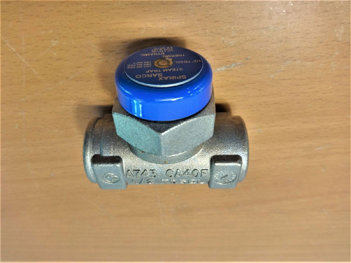 "SPIRAX SARCO 1/2"" COOL BLUE TD52L THERMODYNAMIC STEAM TRAP 54771C"