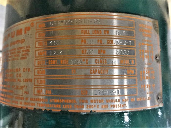 CRANE CHEMPUMP SEAL-LESS PUMP HOUSING GFD-5K-751H-3S  (ITEM#1)