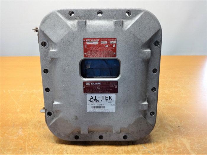 AITEK TACHTROL-3 DIGITAL TACHOMETER T77310-71 KILLARK QUANTUM ENCLOSURE EXB-8106