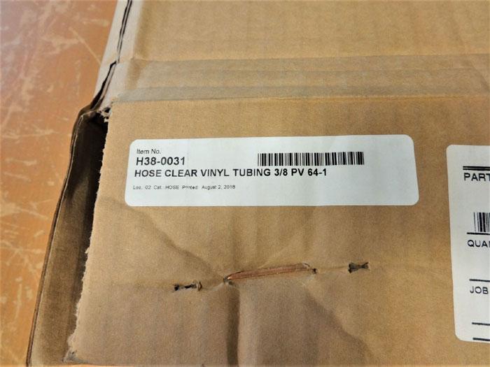 """LOT OF (4) PARKER 3/8"""" CLEAR VINYL TUBING HOSE 100FT ROLLS PV64-1, ITEM H38-0031"""