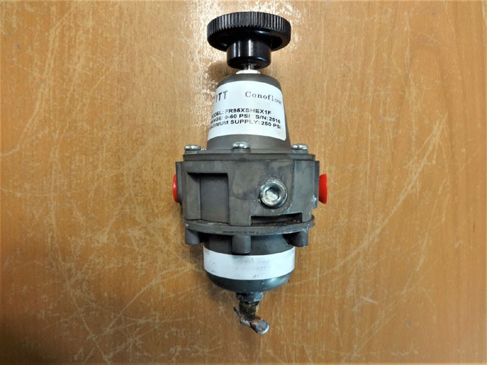 LOT (3) ITT CONOFLOW PRESSURE REGULATOR FR95XSHEX1F