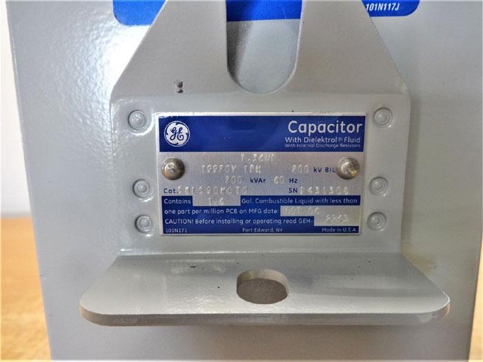 GENERAL ELECTRIC GE CAPACITOR WITH DIELEKTROL VII FLUID #58L590WC70