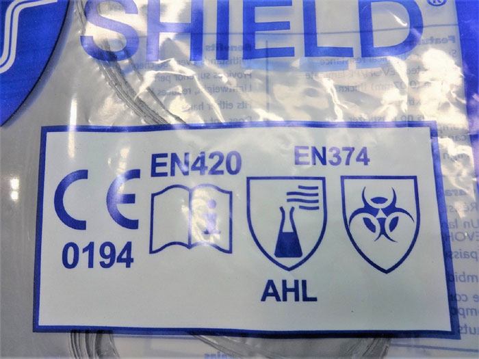 NORTH SSG/9 SILVER SHIELD CHEMICAL RESISTANT GLOVES, SIZE 9 - 20 PAIRS
