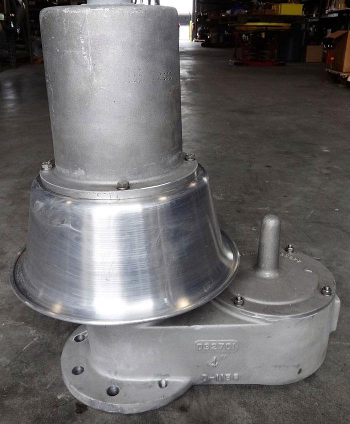 """GROTH 4"""" FF 150 VACUUM PRESSURE RELIEF VENT VALVE 1201B-04-115-T00"""