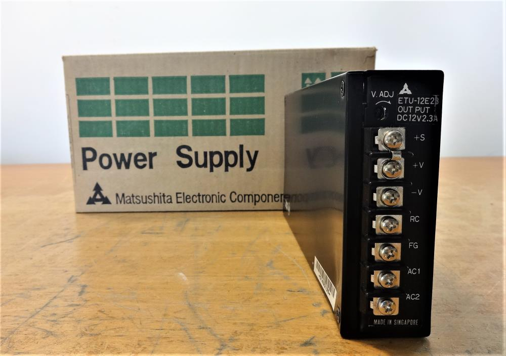 LOT OF (2) MATSUSHITA POWER SUPPLY E-B12, ETU-12E40, 73W & E-A12, ETU-12E23, 46W