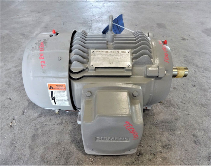 SIEMENS SEVERE DUTY 7.5 HP MOTOR, TYPE SD100 IEEE, PART# 1LE24212AA112AB3-Z