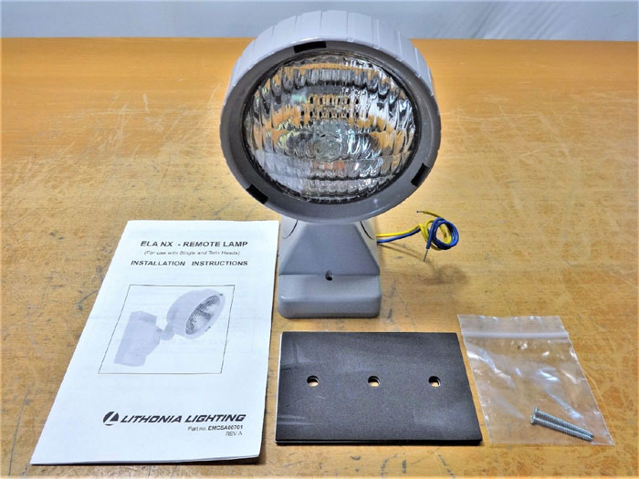 LOT OF (4) LITHONIA LIGHTING ELA NX H1212 REMOTE LAMP 12V/12W, PAR 36 HALOGEN
