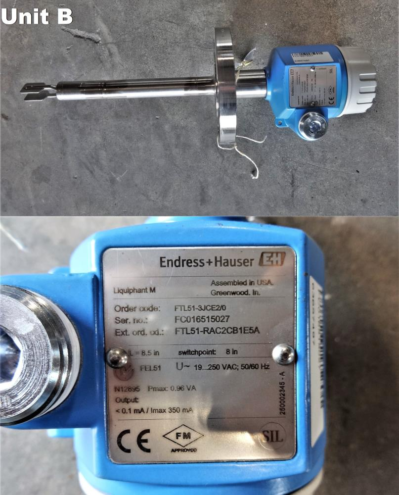 ENDRESS HAUSER LIQUIPHANT M FTL51 POINT LEVEL SWITCH *SEVERAL UNITS AVAILABLE*