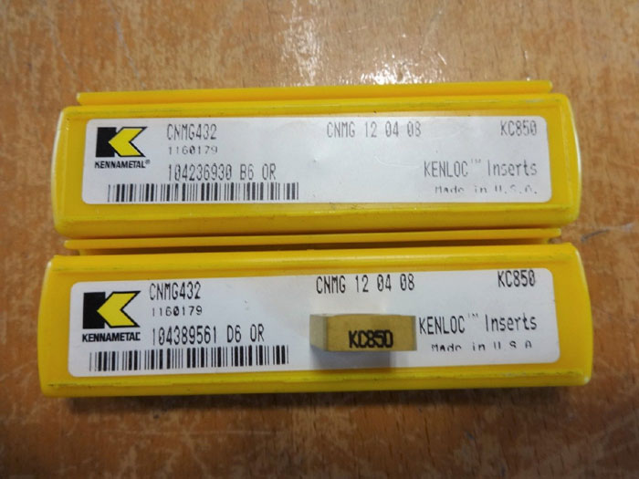 LOT (49) PIECES OF ASSORTED KENNAMETAL KENLOC CARBIDE MILLING INSERTS