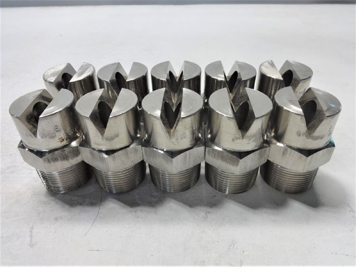 "LOT OF (10) PCS - BETE 1-1/4"" STAINLESS STEEL FAN NOZZLES NF80090"