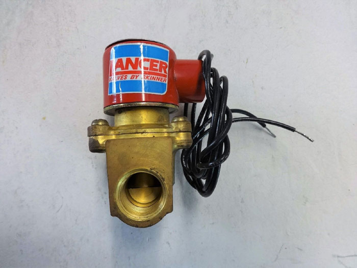 "LANCER VALVES / SKINNER 1/2"" NPT 2-WAY BRASS SOLENOID VALVE 2LC2LB4150"