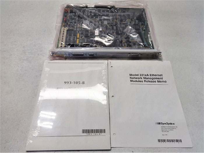 SYNOPTICS LATTISNET ETHERNET NMM NETWORK MANAGEMENT MODULE 3313A-04 AUI IP/IPX