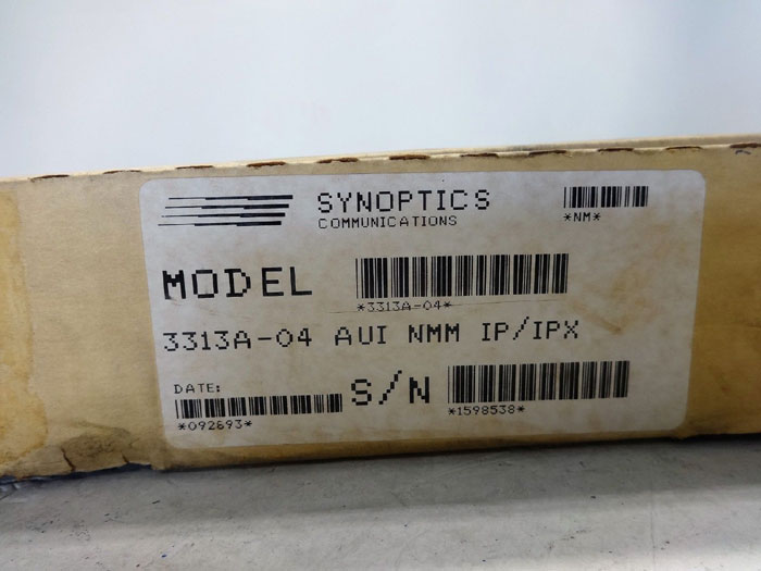 SYNOPTICS LATTISNET ETHERNET NMM NETWORK MANAGEMENT MODULE 3313A-04 AUI IP/IPX