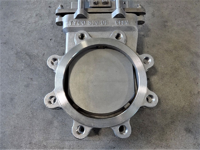 """TYCO 6"""" 316 STAINLESS STEEL KNIFE GATE VALVE S20-6"""