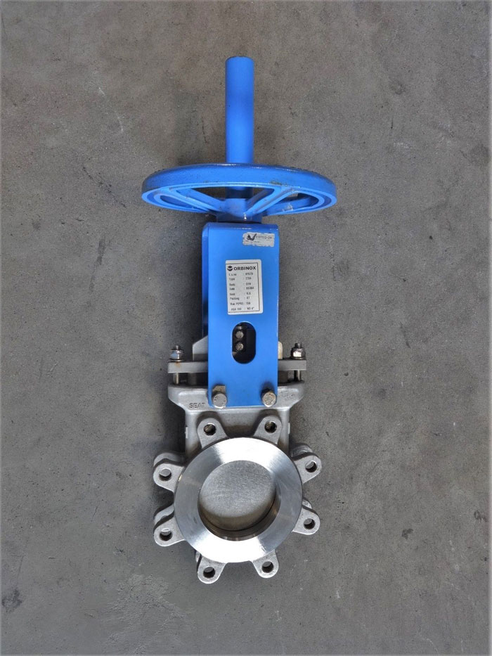 "ORBINOX 4"" 150# CF8 KNIFE GATE VALVE, TYPE ET04, #61579"