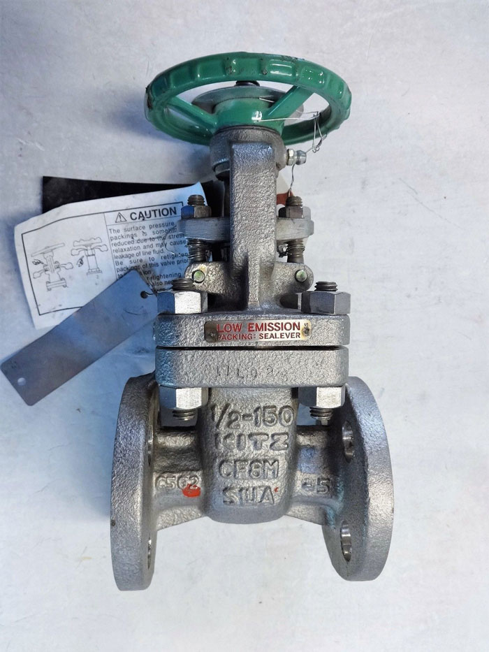 "KITZ GATE VALVE 1/2"" FLANGED 150# CF8M GATE VALVE, FIG# 150UMAM-GRF"