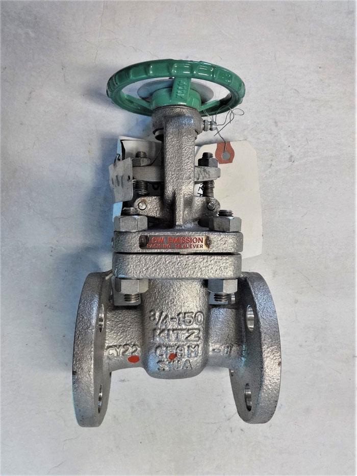 "KITZ 3/4"" FLANGED 150# CF8M GATE VALVE, FIG# 150UMAM-GRF"