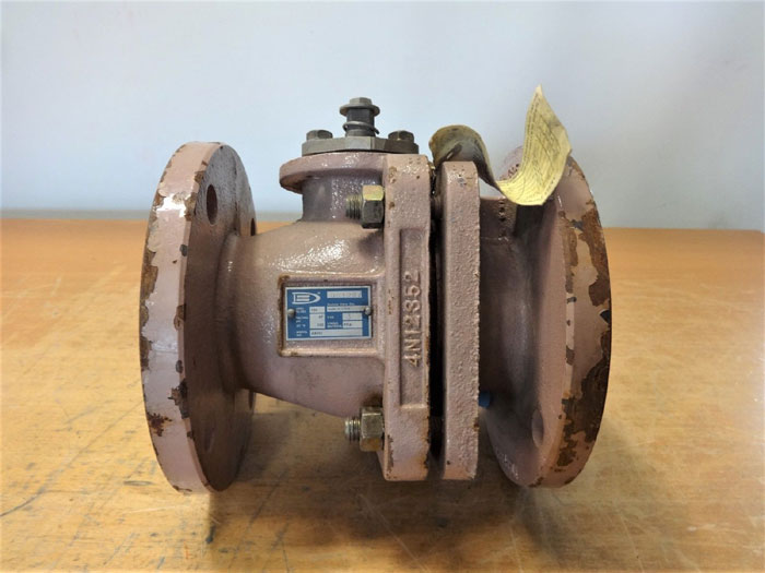 "ATOMAC 3"" 150# PFA LINED BALL VALVE, MODEL# AKH3"