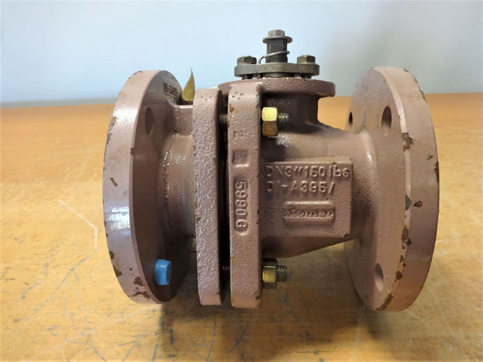 """Details about  /Durco AKH3 Atomac 3/"""" Flanged PFA Teflon Lined 2Pc Chemical Ball Valve 150#"""