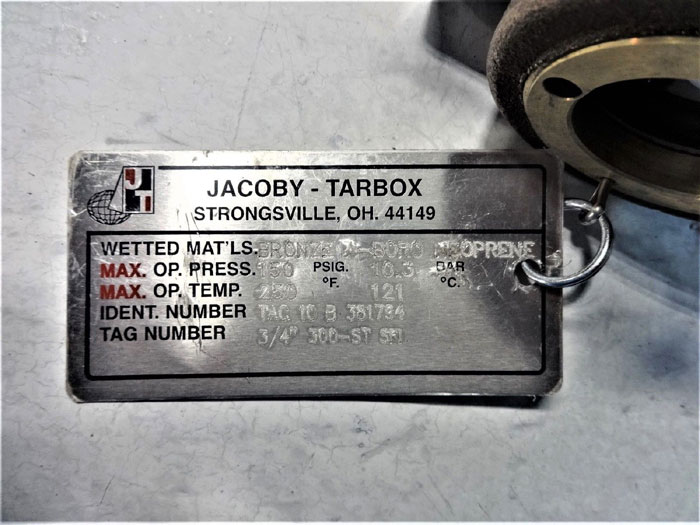 "JACOBY TARBOX 3/4"" BRONZE SIGHT FLOW INDICATOR W/ ROTOR 300-ST, PART# TAC-10-B"