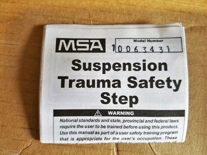 MSA SUSPENSION TRAUMA SAFETY STEP STRAP KITS, NYLON, BLACK 10063431 - LOT OF (3)