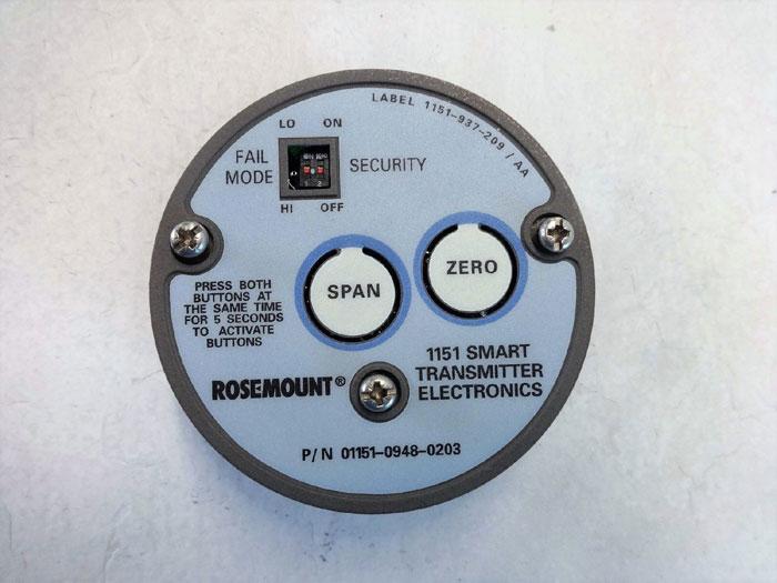 ROSEMOUNT 1151 SMART TRANSMITTER ELECTRONICS REPLACEMENT PART 01151-0948-0203